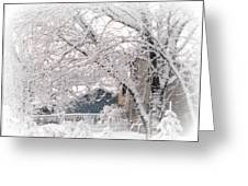 The Last Snow Storm Greeting Card
