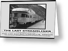 The Last Streamliner Poster Greeting Card