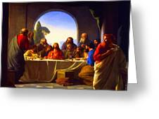 The Last Supper By Carl Heinrich Bloch Greeting Card