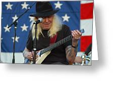 The Late Great Johnny Winter Greeting Card