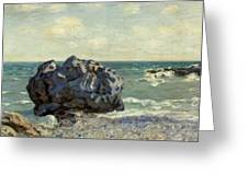 The Laugland Bay Greeting Card by Alfred Sisley