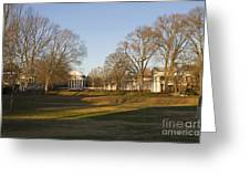 The Lawn University Of Virginia Greeting Card