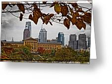 The Leaves Of Philly Greeting Card