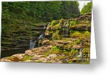 The Ledges Waterfalls Greeting Card