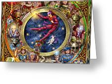 The Legacy Of The Devine Tarot Greeting Card by Ciro Marchetti