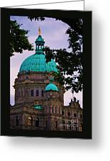 An Aspect Of The Legislative Building, Victoria, British Columbia Greeting Card