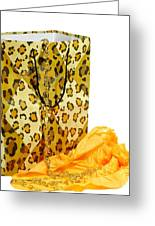 The Leopard Gift Bag Greeting Card by Diana Angstadt