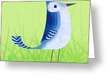 The Letter Blue J Greeting Card