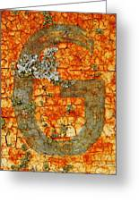 The Letter G With Lichens Greeting Card