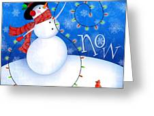 The Letter S For Snowman Greeting Card