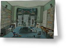 The Library, C.1820, Battersea Rise Greeting Card by English School