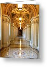 The Library Of Congress Jefferson Building Greeting Card