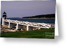 The Light At Marshall Point Greeting Card