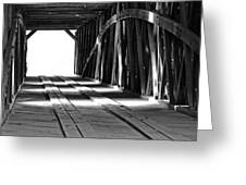 The Light At The End Of The Bridge Greeting Card
