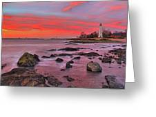 The Light House In New Haven Greeting Card