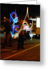 The Light Jugglers Greeting Card by Steve Taylor