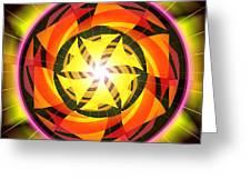The Light Of Zen Greeting Card by Derek Gedney