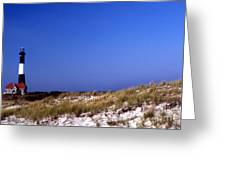 The Light On Fire Island Greeting Card