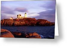 The Light On The Nubble Greeting Card
