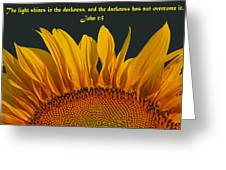 The Light Shines Greeting Card