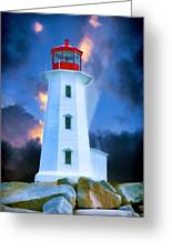 The Lighthouse At Peggys Cove Greeting Card