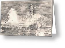 The Lighthouse Greeting Card by Beverly Marshall