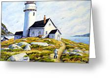 The Lighthouse Keeper Greeting Card