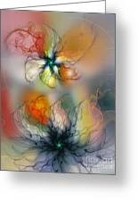 The Lightness Of Being-abstract Art Greeting Card