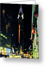 The Lights Of New York City Greeting Card