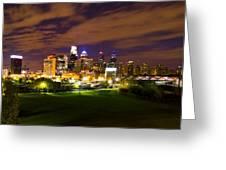 The Lights Of Philadelphia Greeting Card