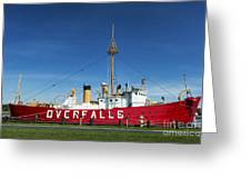 The Lightship Overfalls Greeting Card