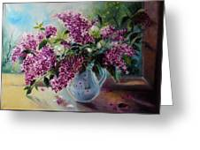 The Lilac On The Window Greeting Card