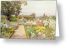 The Lily Border At Great Tangley Manor Greeting Card