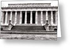 The Lincoln Memorial Greeting Card by Olivier Le Queinec