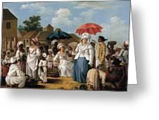 The Linen Market. Santo Domingo Greeting Card
