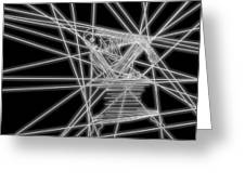 The Lines Of Martha Graham L Bw Greeting Card