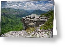 The Linville Gorge From Shortoff Greeting Card