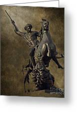 The Lion Fighter Greeting Card by Tom Gari Gallery-Three-Photography