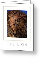 The Lion Poster Greeting Card