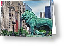 The Lions Of Chicago Greeting Card