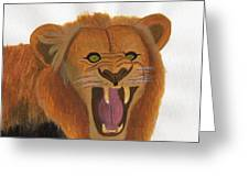 The Lion's Roar Greeting Card by Bav Patel