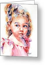 The Little Ballerina Greeting Card