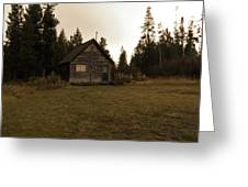 The Little Cabin In The Woods Greeting Card