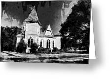 The Little Church On The Corner Greeting Card