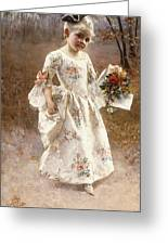 The Little Flower Girl  Greeting Card