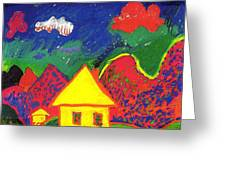 The Little House In The Montains Greeting Card