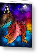 The Little Mermaid Greeting Card by Mandie Manzano