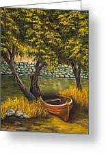 The Little Red Boat Greeting Card
