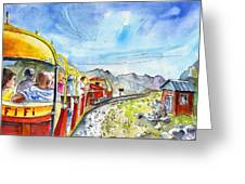The Little Train Of Artouste Greeting Card