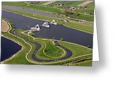 The Lock And Weir Complex Amerongen Greeting Card